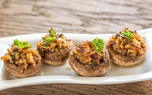 ChefBear Complete Meals - stuffed mushrooms