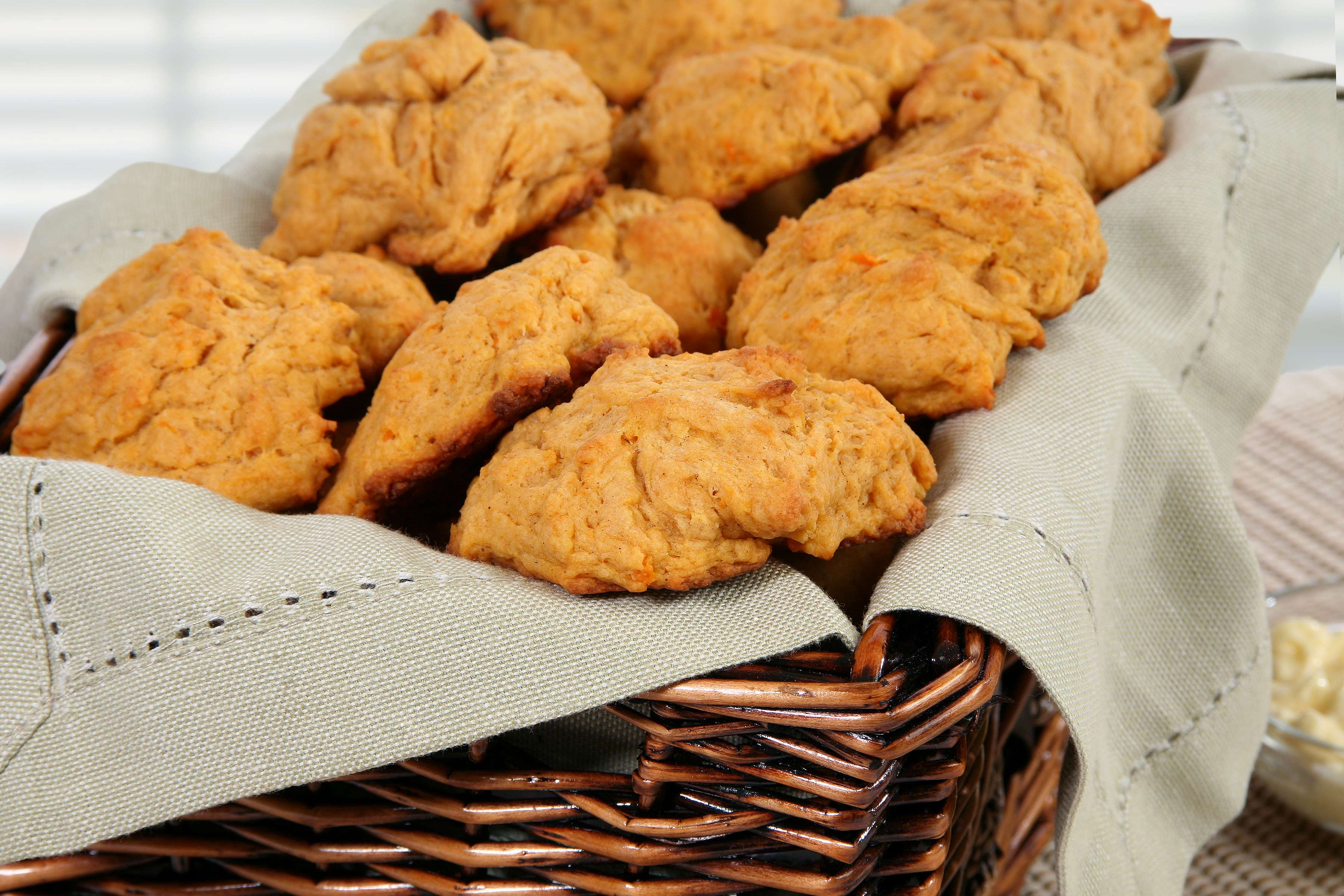Sweet Potato Drop Biscuits Recipe | RecipeSavants.com