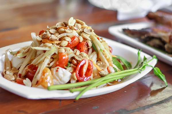 Thai-Style Zesty Papaya Salad Recipe