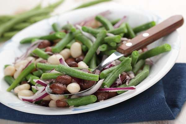 Three-Bean Salad With Vinaigrette Recipe