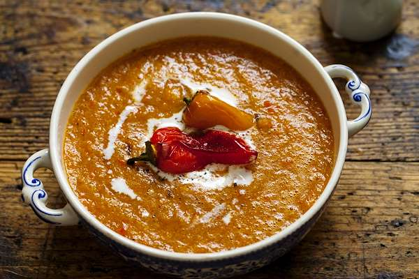 Tomato & Sweet Pepper Soup Recipe