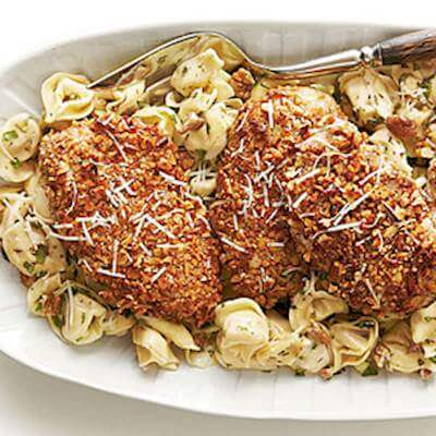 Tortellini With Nutty Crusted Chicken Recipe