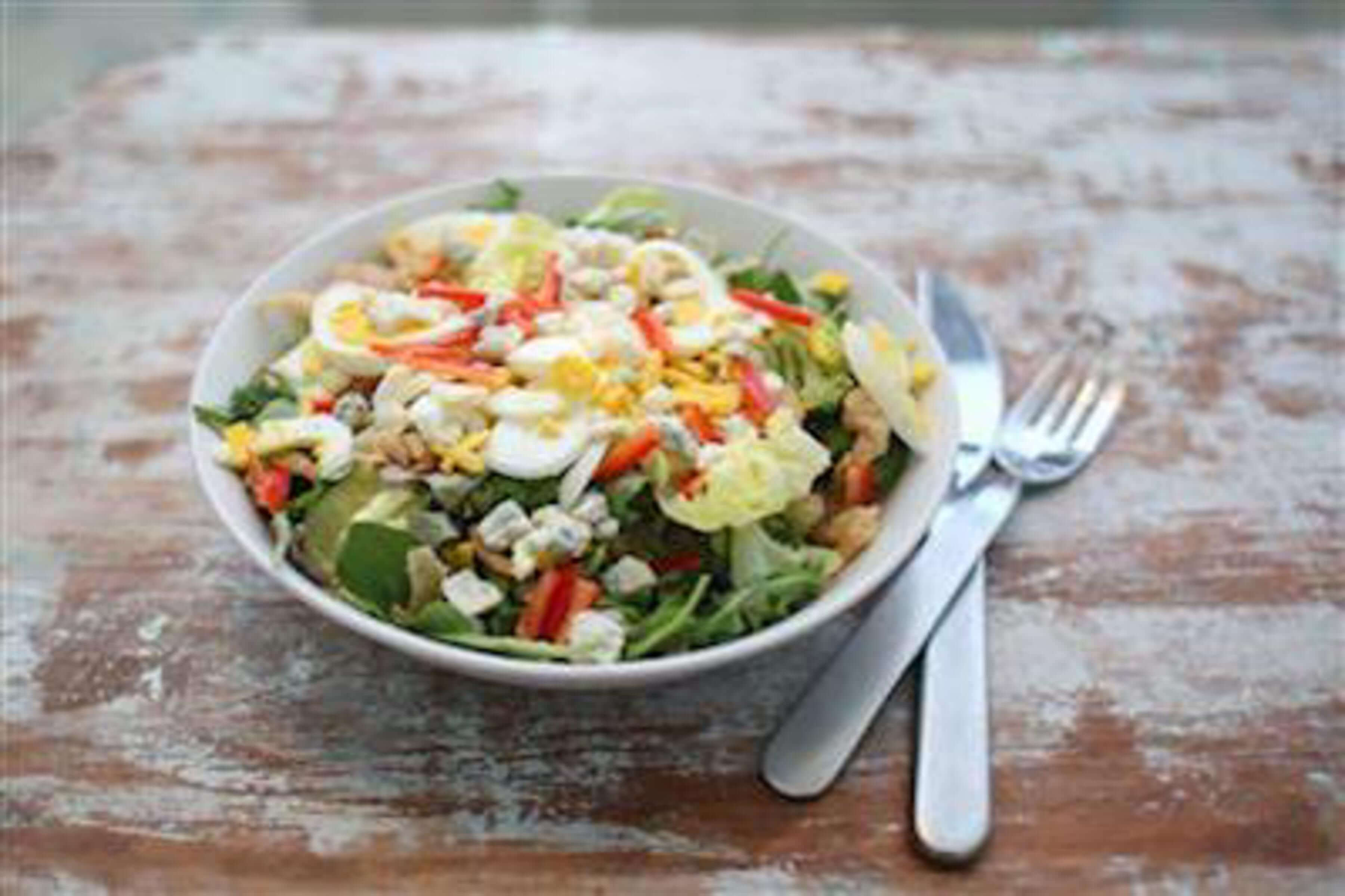 Upscale Chef Salad With Fancy Dressing Recipe | RecipeSavants.com