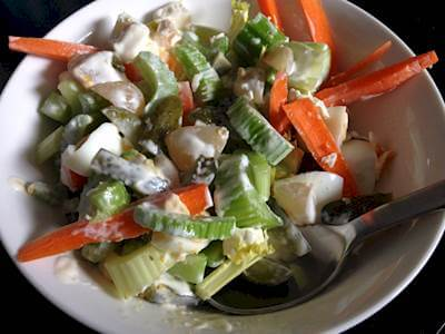 Vegetable & Egg Salad Recipe