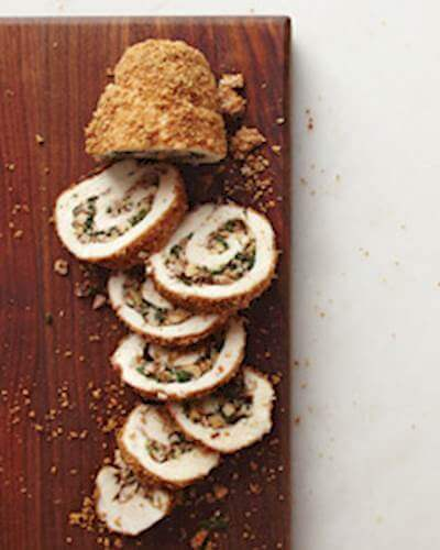 Walnut Stuffed Chicken Roulades Recipe