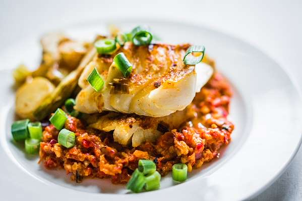 White Fish With Romesco Sauce Recipe