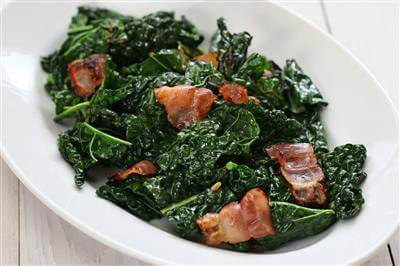 Wilted Spring Greens With Bacon Recipe