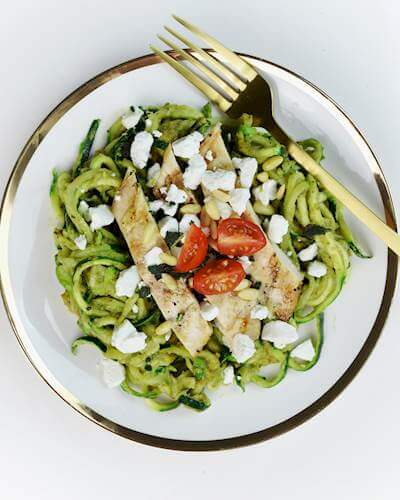 Zucchini Noodles With Avocado Pesto Recipe